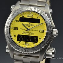 Breitling Emergency Titanium PRO I Bracelet Yellow Dial Watch...
