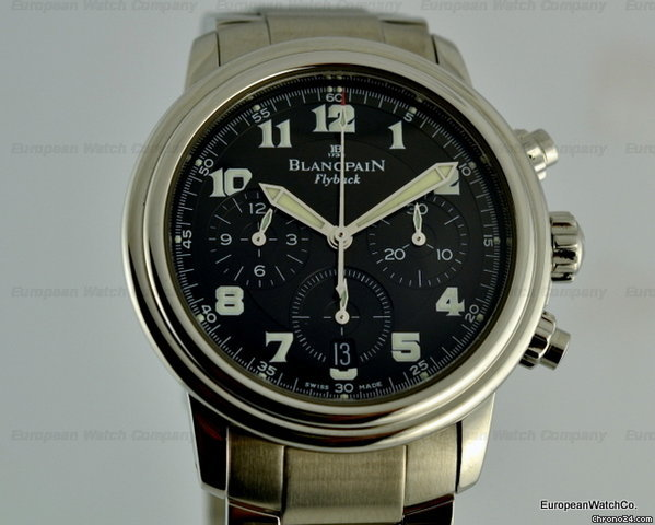 Blancpain Flyback Chronograph Black Dial SS/SS 38MM