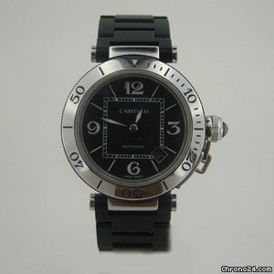 Cartier PASHA SEATiMER STEEL & RUBBER BOX & PAPERS 41 mm