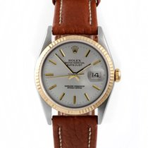 Rolex Mens 2tone Datejust with Silver Stick Marker Dial 16013