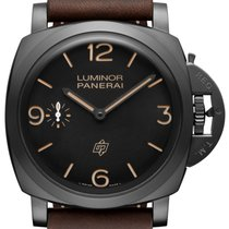Panerai [NEW] Luminor 1950 3 Days Titanio DLC Special Ed. PAM 617