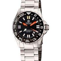 Deep Blue Daynight Rescue T100 Gmt Dual Time Tritium Watch...