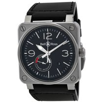Bell & Ross Men's BR0397-BL-SI/SCA  Aviation Reserve...