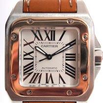 Cartier Santos 100 Medium Rose  Gold/Steel