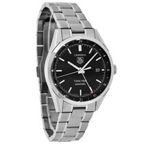 TAG Heuer Carrera Mens Twin-Time Swiss Automatic Watch...