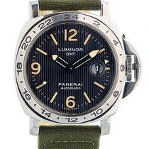 Panerai Luminor Gmt Ocean Chronometer A Series Trutium Dial In...