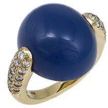 Pomellato Luna White Gold Blue Chalcedony Diamond Ring...
