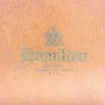 Hamilton vintage wooden box  watches 12 places