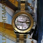Rolex Yachtmaster Mens 18k Gold & Steel Black MOP Watch...