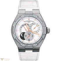 Vacheron Constantin Overseas Dual Time Ladies 18K White Gold...
