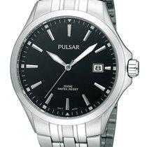 Pulsar PS9089X1 Herrenuhr 10ATM silber schwarz