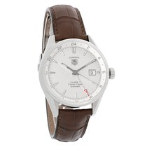 TAG Heuer Carrera Mens TwinTime Silver Dial Swiss Automatic...