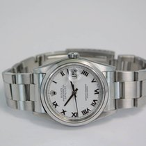 Rolex Datejust Stainless Steel White Roman Dial-16200