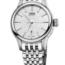 Oris Artelier Date Diamonds Steel Dial