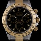 Rolex S/Gold O/P Black Dial Cosmograph Daytona B&P 116523