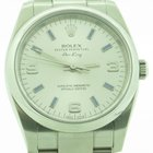 Rolex Airking 114200 Silver Arabic With Blue Markers Dial With...