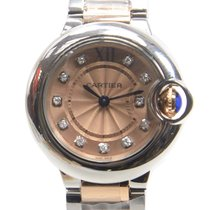 Cartier Ballon Bleu Stainless Steel Pink Quartz WE902052