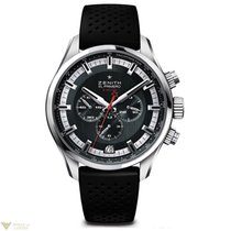 Zenith El Primero Sport Chronograph Steel Rubber Men`s Watch