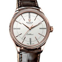 Rolex Cellini Time 50505-WHT White Index / Roman Rose Gold...