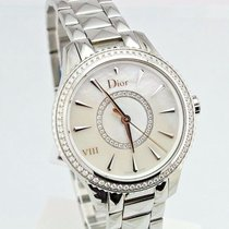 Dior VII Montaigne Mother of Pearl Diamond Dial and Bezel Lds...