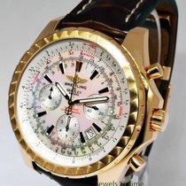 Breitling Bentley Motors 18k Gold 48mm Mens Chronograph Watch...