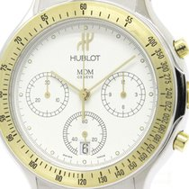 ウブロ (Hublot) Polished Hublot Mdm Chronograph 18k Gold Steel...