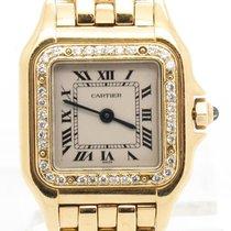 Cartier Panther Solid 18k Yellow Gold Custom Diamond Bezel...