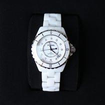 Chanel J12 White Ceramic Diamond 38mm
