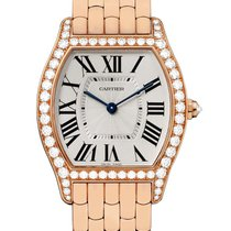 Cartier WA501012 Tortue Ladies Manual in Rose Gold with...