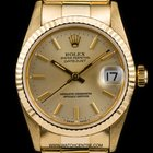 Rolex 18k Y/G Champagne Dial Mid-Size Datejust B&P 68278