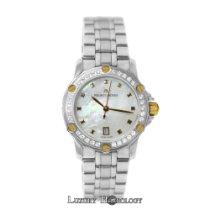 Maurice Lacroix New Ladies Tiago TI1034 Diamond 18K Gold MOP...