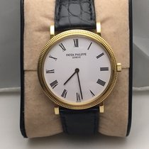 Patek Philippe Calatrava with Hobnail Case Yellow Gold