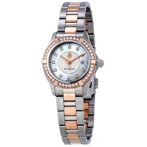 TAG Heuer Aquaracer Mother of Pearl Dial Steel and 18kt Rose...