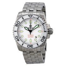 Deep Blue Sea Ram Automatic White Dial Stainless Steel...