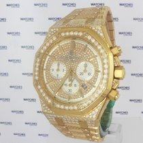Audemars Piguet Royal Oak Chronograph Rose Gold Diamond Set -...