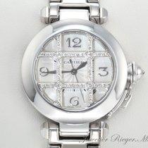 Cartier PASHA 32 mm WEISSGOLD 750 DIAMANTEN AUTOMATIK