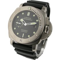 Panerai PAM00305 PAM 305 Submersible - Titanium on Strap with...