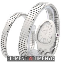Bulgari Serpenti Stainless Steel Tubogas Silver Dial Double...