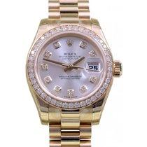 Rolex Datejust Ladies President 179138 Diamond Silver Yellow...