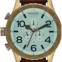 Nixon A124-2223 51-30 Chrono Leather Brass Green 51mm 10ATM