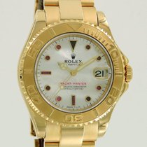 Rolex Yachtmaster Midsize Yellow Gold/MOP Dial w Rubies