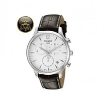 Tissot - Tradition Men's Chrono Quartz Silver Dial Watch wi