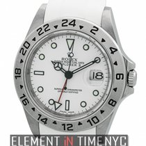 Rolex Explorer II Stainless Steel White Dial On RubberB F...