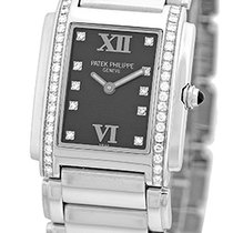 "Patek Philippe Lady's Stainless Steel  Diamond ""Twenty..."
