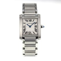 Cartier Tank Francaise W51008q3 Stainless Steel White Roman...