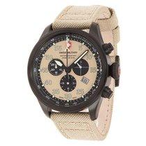 Swiss Military Watch Hawk Nero Rawhide Chronograph 27331