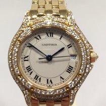 Cartier Cougar 18kt 750 Gold Damenuhr Brillantbesatz