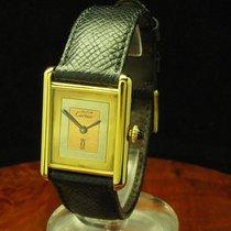 Cartier Tank Argent 925 Silber Vergoldet Handaufzug Damenuhr /...