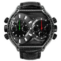 DeLaCour Bichrono S2 Tech Black Steel & Black Diamond Bezel