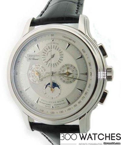 Zenith El Primero Quantieme Perpetual Calendar Platinum Chrono Watch